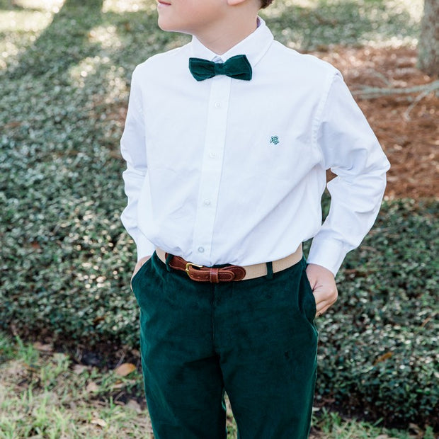 Johnny Bow Tie-Forest Green Cordaroy