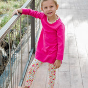 Tunic Legging Set-Fuchsia Floral
