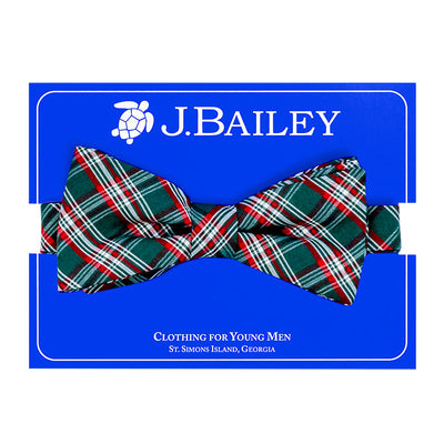 Johnny Bow Tie-Holly Plaid