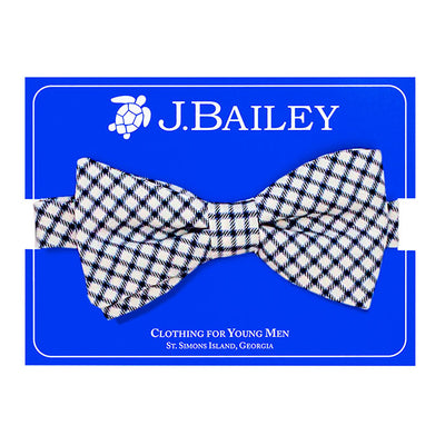 Johnny Bow Tie-Navy Check