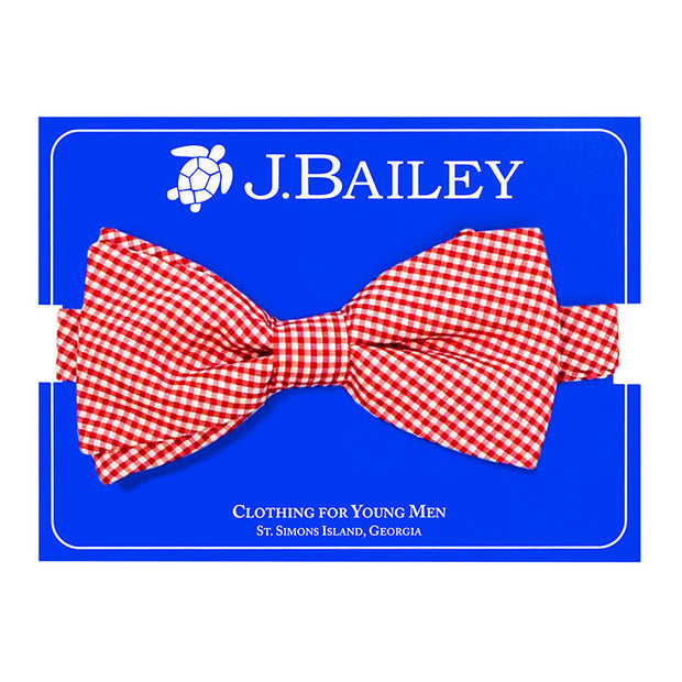 Johnny Bow Tie-Red Check