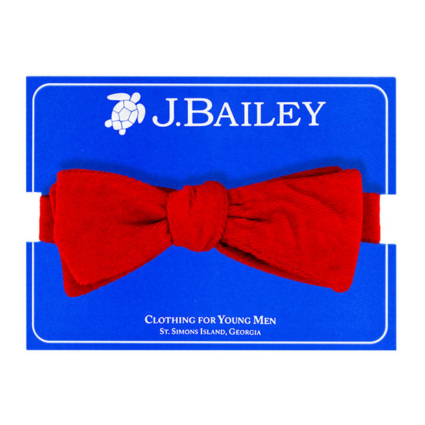 Johnny Bow Tie-Red Cordaroy