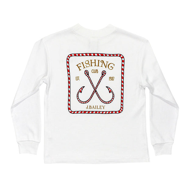 J. Bailey Logo Tee-Candy Cane on White