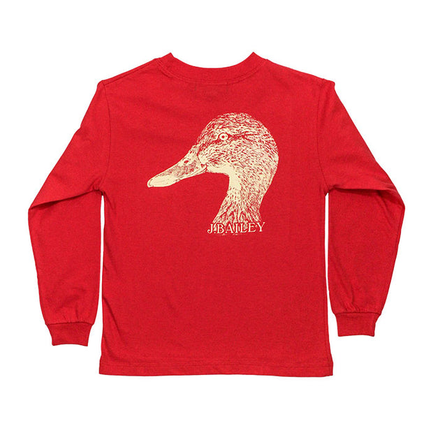 J. Bailey Logo Tee-Duck on Cayenne