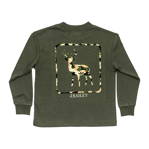 J. Bailey Logo Tee-Deer on Sage
