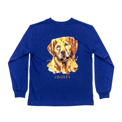 J. Bailey Logo Tee-Retriever on Royal