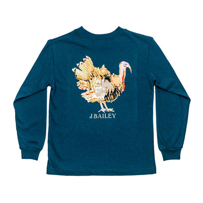 J. Bailey Logo Tee-Turkey on Teal