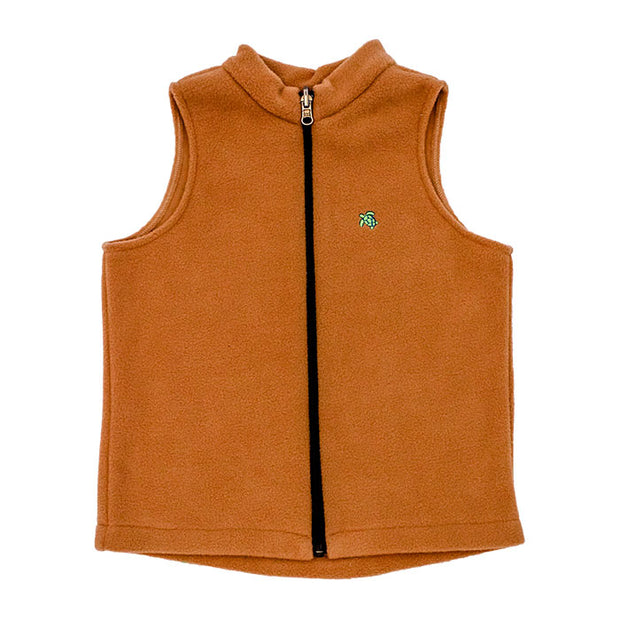 Mills Fleece Vest-Camel