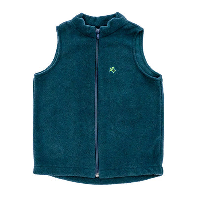 Mills Fleece Vest-Hunter Green