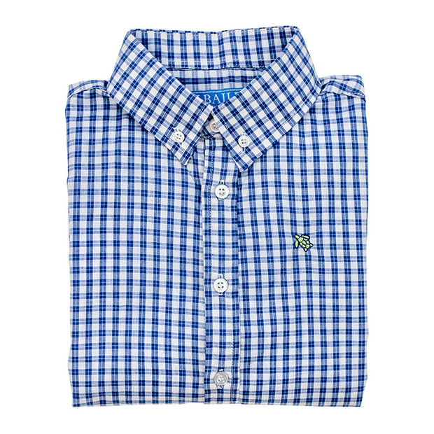Roscoe Button Down Shirt-Regatta Windowpane