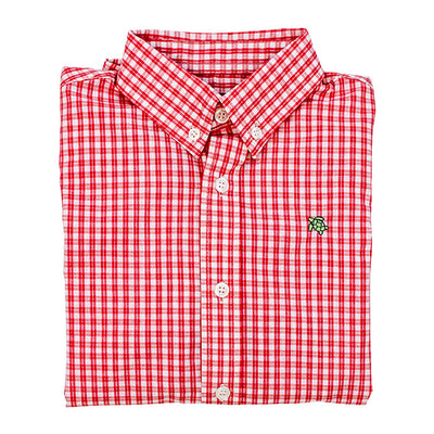 Roscoe Button Down Shirt-Cardinal Windowpane