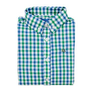 Roscoe Button Down Shirt-Hampton Plaid