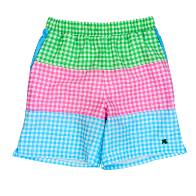 Board Swim Short- Multi Check