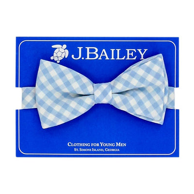 Johnny Bow Tie-Blue Gingham