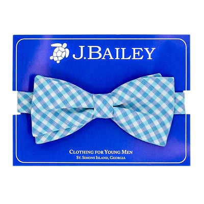 Johnny Bow Tie-Coastal Gingham
