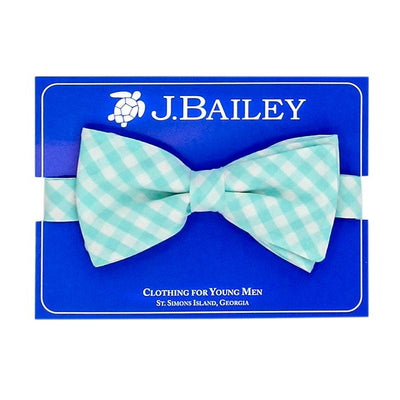 Johnny Bow Tie-Mint Gingham