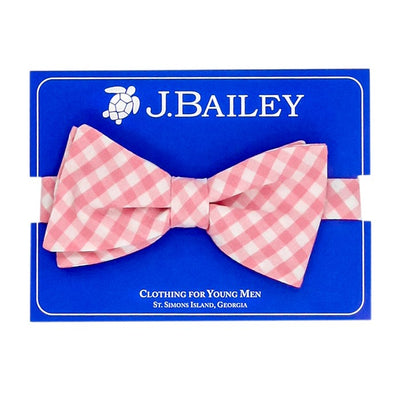 Johnny Bow Tie-Pink Gingham