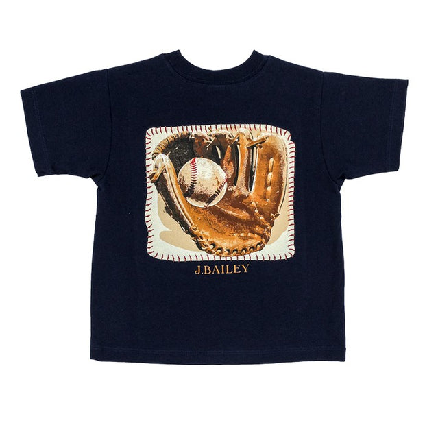 J. Bailey Short Sleeve Logo Shirt-Baseball on Navy