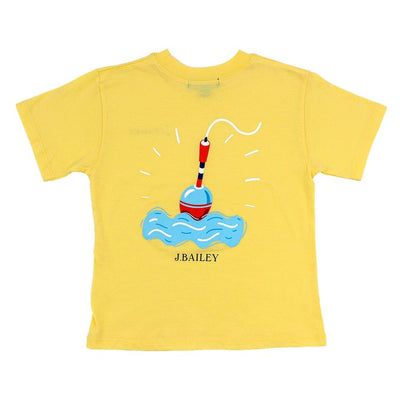 J. Bailey Short Sleeve Logo Shirt-Bobbers on Yellow