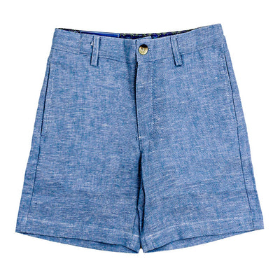 Pete Short-Lake Blue Linen