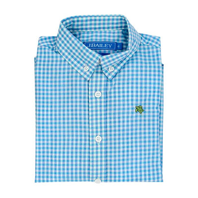 Roscoe Button Down Shirt-Coastal Gingham