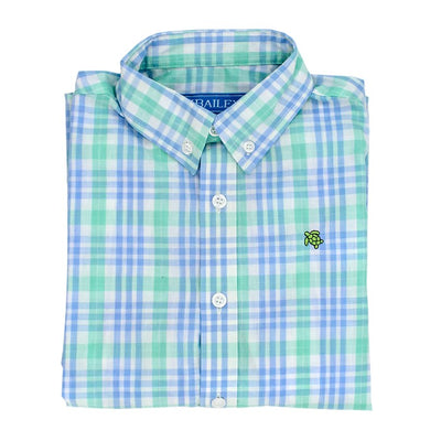 Roscoe Button Down Shirt-Watercolor Plaid
