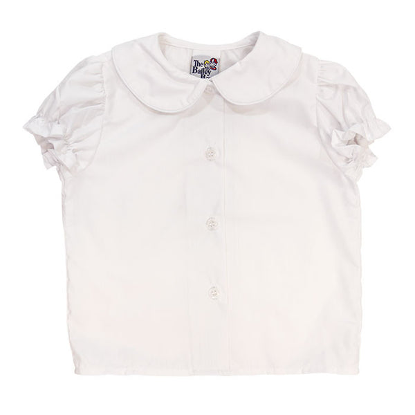Peter Pan Collar Girls Piped Shirt