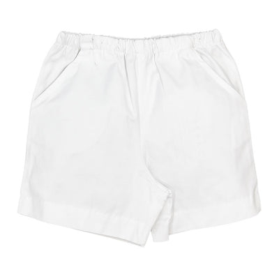 Bailey Boys Twill Short in White