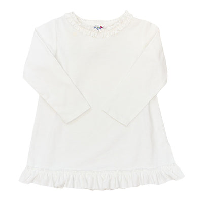 White Knit-Girls Betsy Top