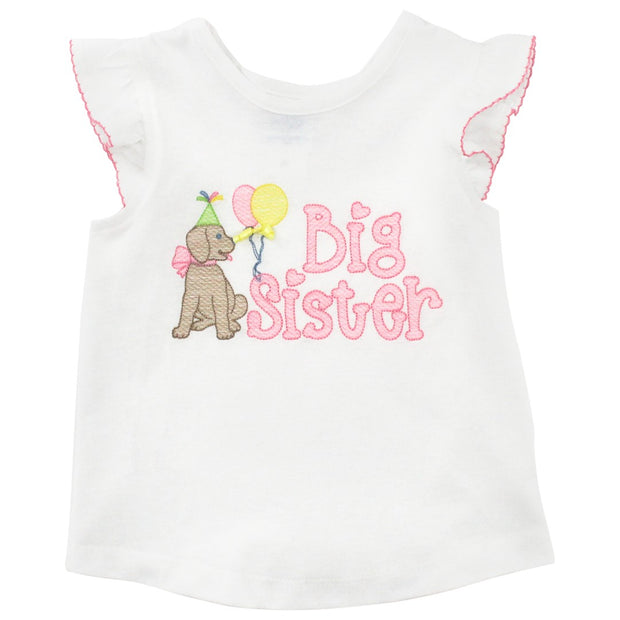 White Knit- Big Sister T-shirt
