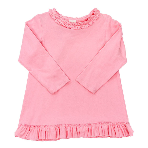Girls Basic Betsy Top in Medium Pink