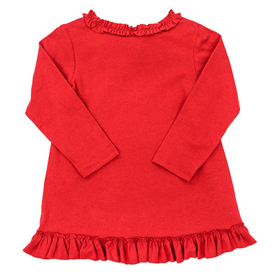 Red Knit-Betsy Top