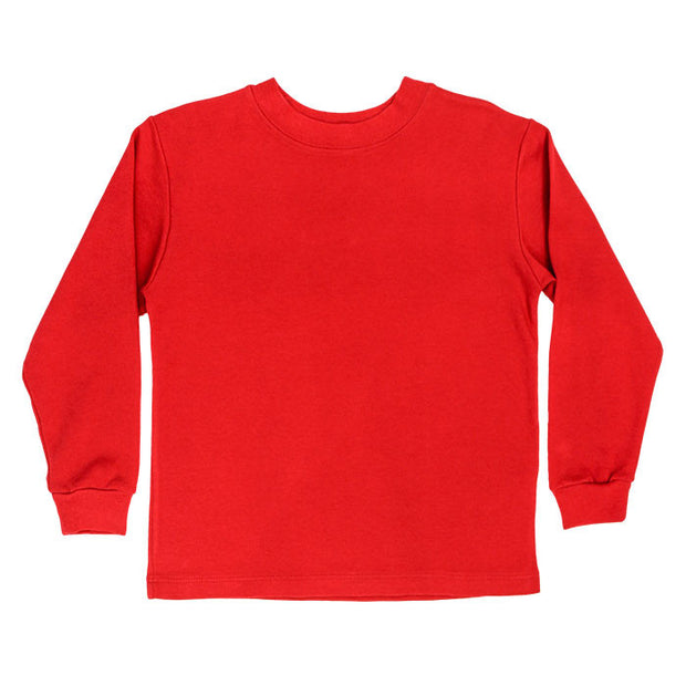 Red Knit-Long Sleeve T-Shirt