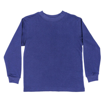 Navy Knit-Long Sleeve T-Shirt