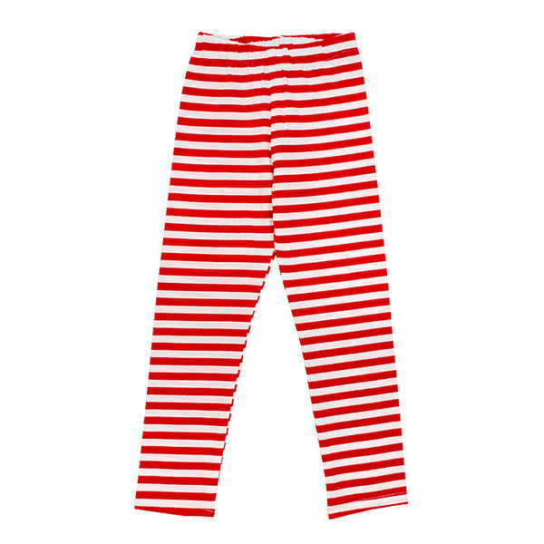 The Bailey Boys Basic Girls Legging in Red Stripe