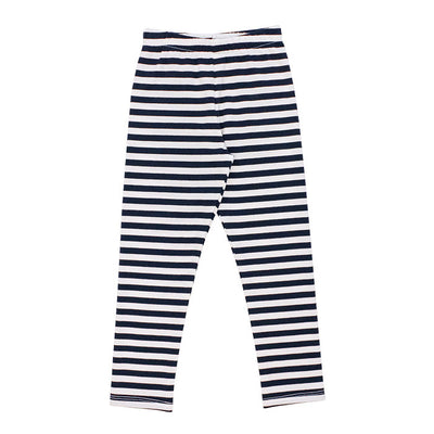 Navy Stripe-Legging