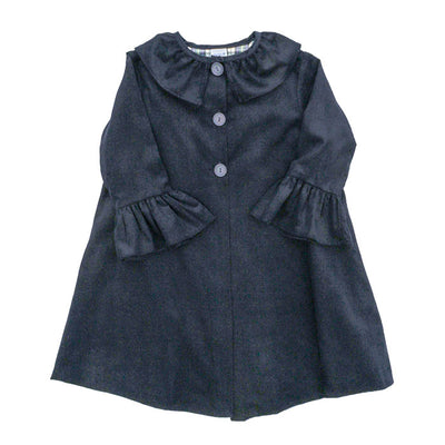 Navy Corduroy-Girls Coat