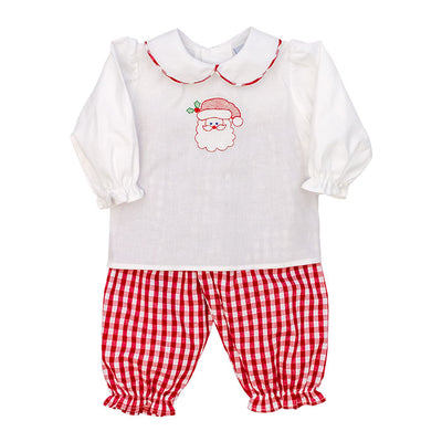 Here Comes Santa Claus-Dressy Girls Pants Set