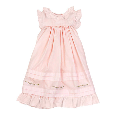 Smocked Pin Tuck Dress-Pastel Pink