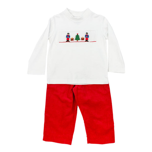 Smocked Nutcrackers-Boys Pant Set