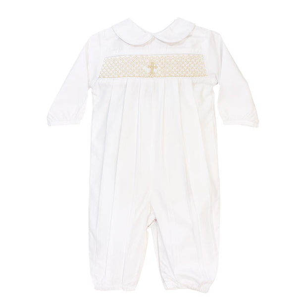 Smocked Christening Collection- Boys Long Sleeve Dressy Bubble
