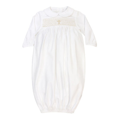 Smocked Christening Collection-Boys Long Sleeve Sac