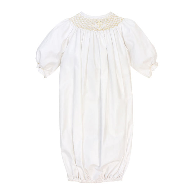 Smocked Christening Collection-Girls Long Sleeve Sac