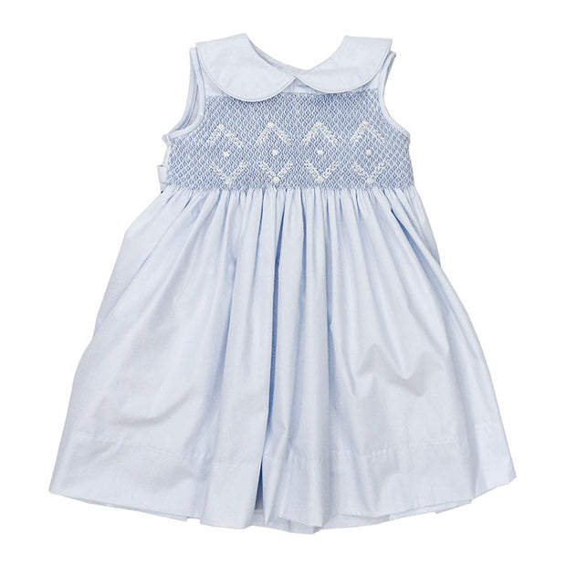 Smocked Summer Dress-Blue