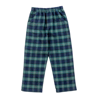 Black Watch Plaid-Boy Elastic Waist Pant