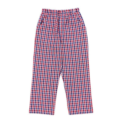 Freedom Plaid-Boy Elastic Waist Pant
