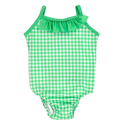 Mint Gingham- Spandex Suit