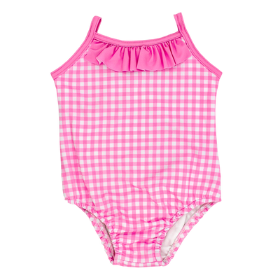 Pink Gingham- Spandex Suit