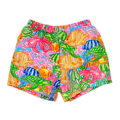 Bailey Boys Swim Trunk-Tropical Print