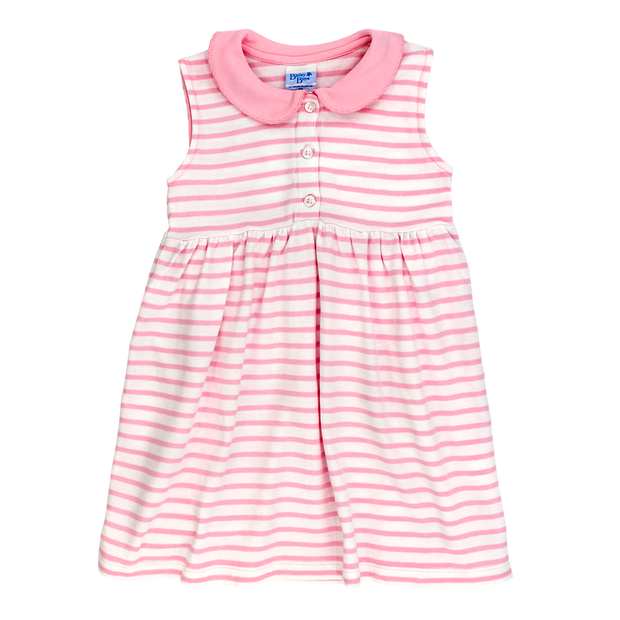 PINK/WHITE STRIPE-SUNDRESS